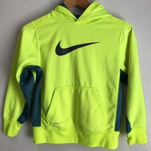 Nike Boy's KO 2.0 Pullover Training Hoodie Neon